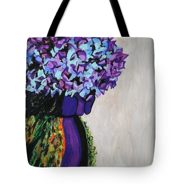 Indigo Flowers For Ma Tote Bag