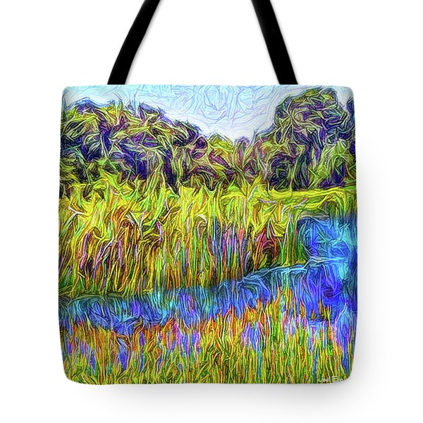 Indigo Lake Reflections Tote Bag by Joel Bruce Wallach