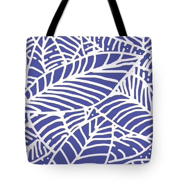 Indigo Leaves Batik Tote Bag