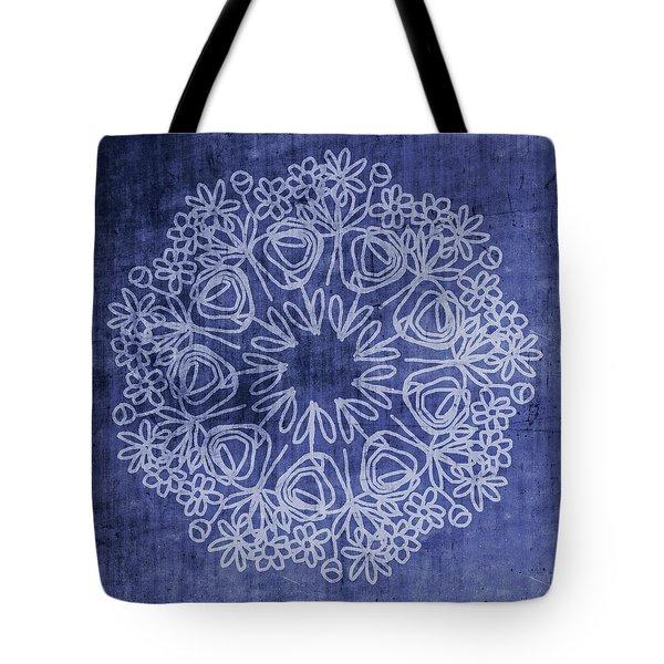 Indigo Mandala 1- Art By Linda Woods Tote Bag