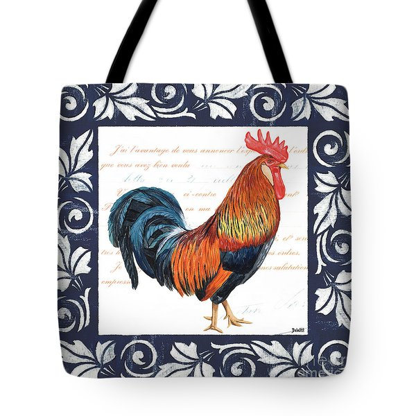 Indigo Rooster 1 Tote Bag