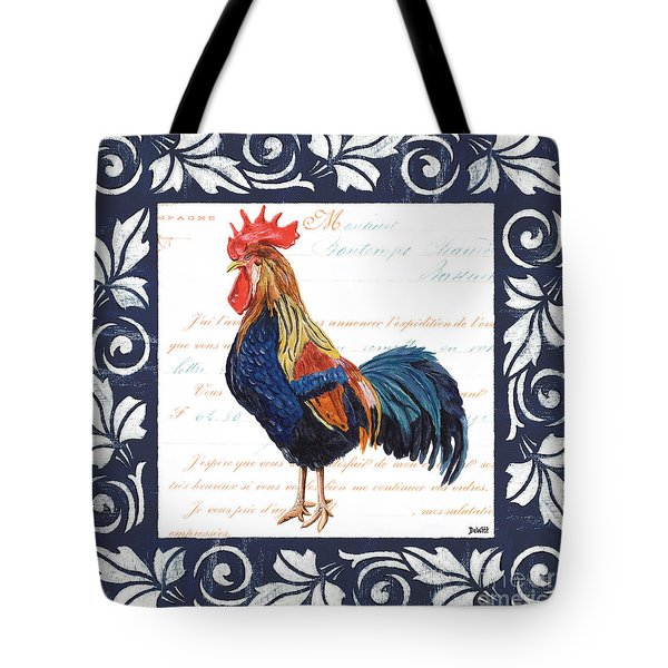 Indigo Rooster 2 Tote Bag