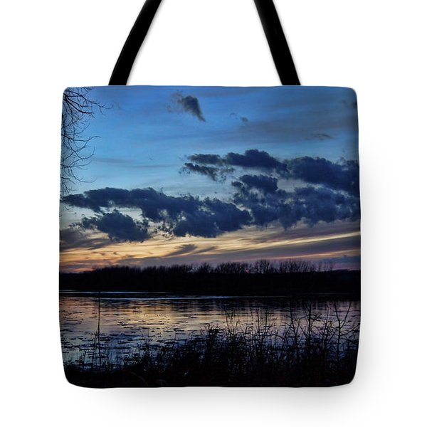 Tote Bag featuring the photograph Indigo Skies by Cricket Hackmann