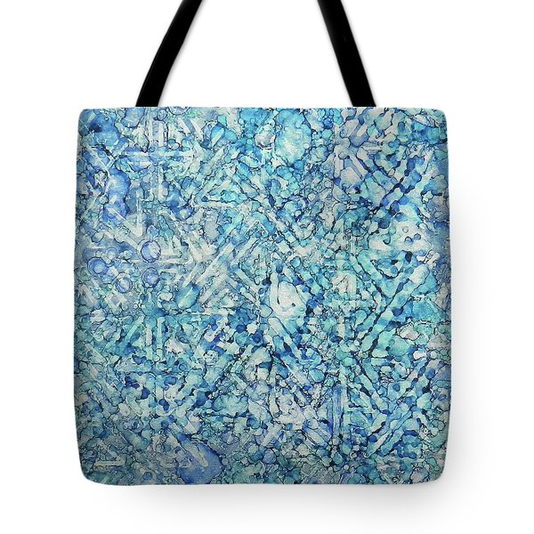 Tote Bag featuring the painting Indigo Trails Ink #14 by Sarajane Helm