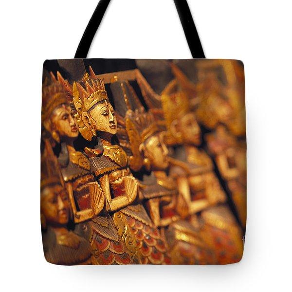 Indonesian Dolls Tote Bag by Dana Edmunds - Printscapes