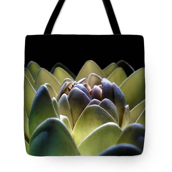 Indonesian White Lotus Tote Bag