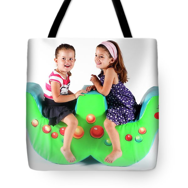 Indoor Playground Tote Bag by Oren Shalev