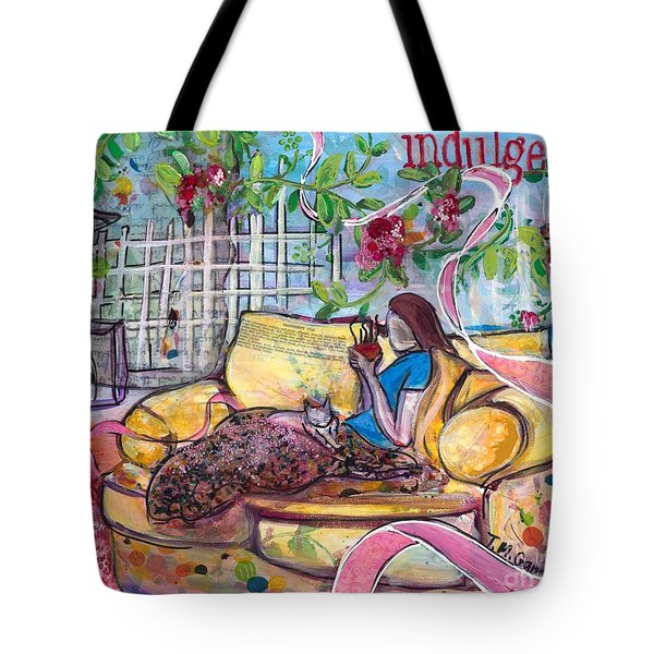 Tote Bag featuring the painting Indulge by TM Gand