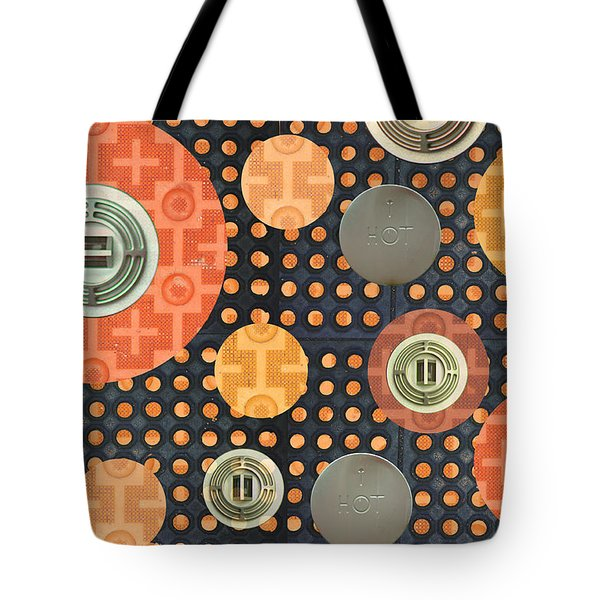 Tote Bag featuring the photograph Industrial Art Skid And Restaurant Mat by Suzanne Powers