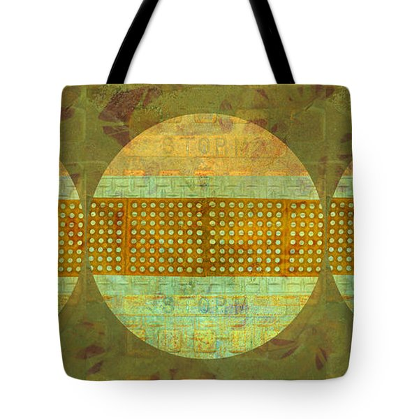 Tote Bag featuring the photograph Industrial Art Spheres In Green by Suzanne Powers