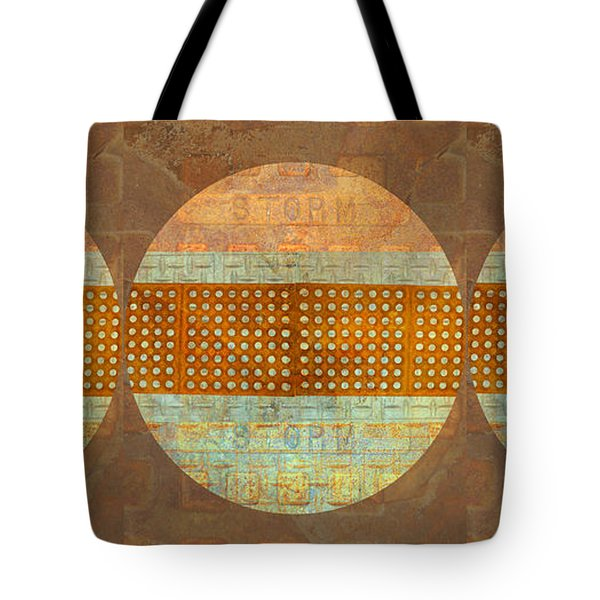 Tote Bag featuring the photograph Industrial Art Spheres by Suzanne Powers
