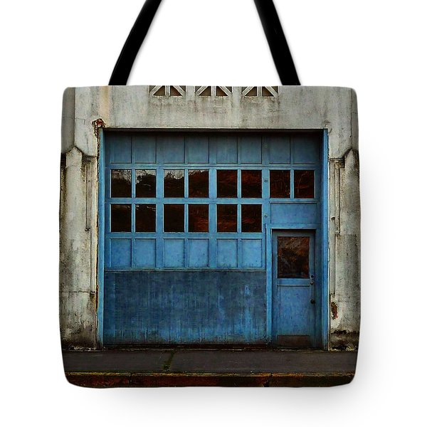 Tote Bag featuring the photograph Industrial Blue by Patricia Strand