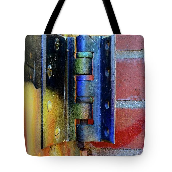 Tote Bag featuring the photograph Industrial by Corinne Rhode