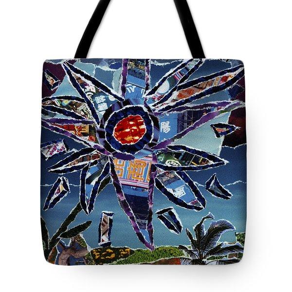 Industrial Flower Tote Bag