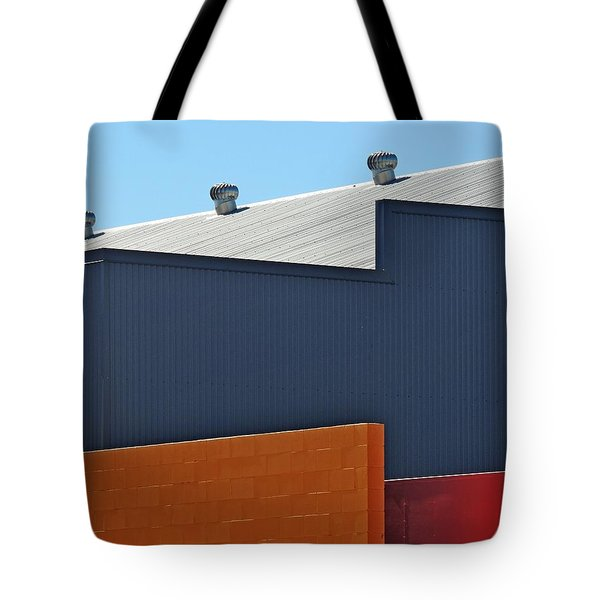 Industrial Geometry Tote Bag