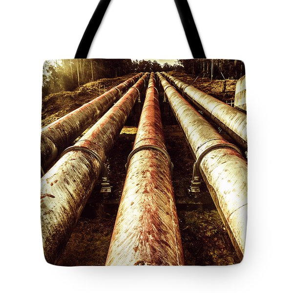 Industrial Hydro Architecture Tote Bag