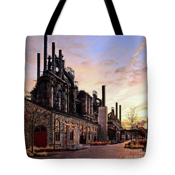 Industrial Landmark Tote Bag