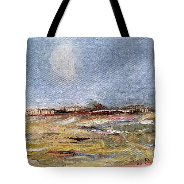 Tote Bag featuring the painting Inevitable Epoch by Judith Rhue