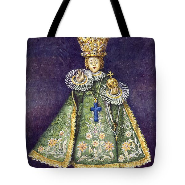 Infant Jesus Of Prague Tote Bag by Yuriy  Shevchuk
