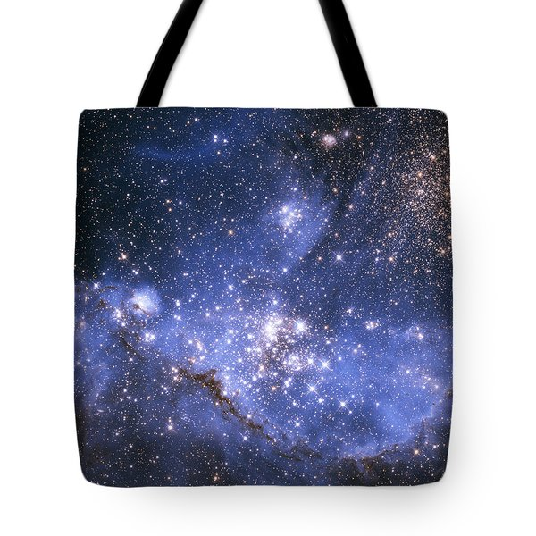 Tote Bag featuring the photograph Infant Stars In The Small Magellanic Cloud  by Artistic Panda