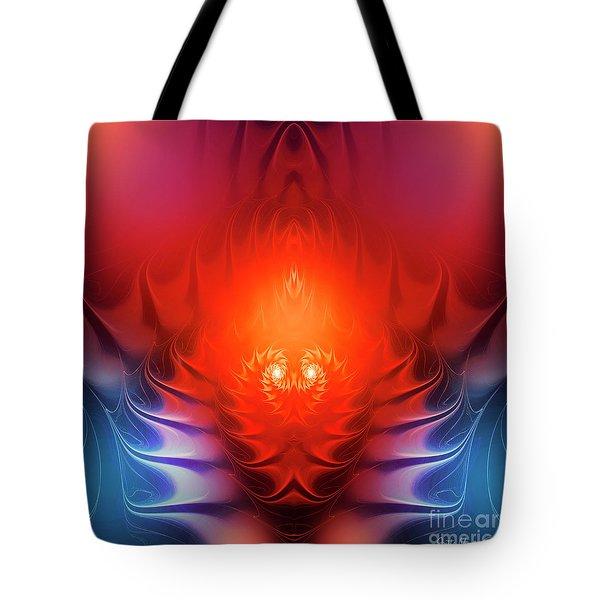 Tote Bag featuring the digital art Inferno by Jutta Maria Pusl