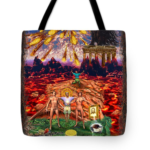 Inferno Of Messages Tote Bag