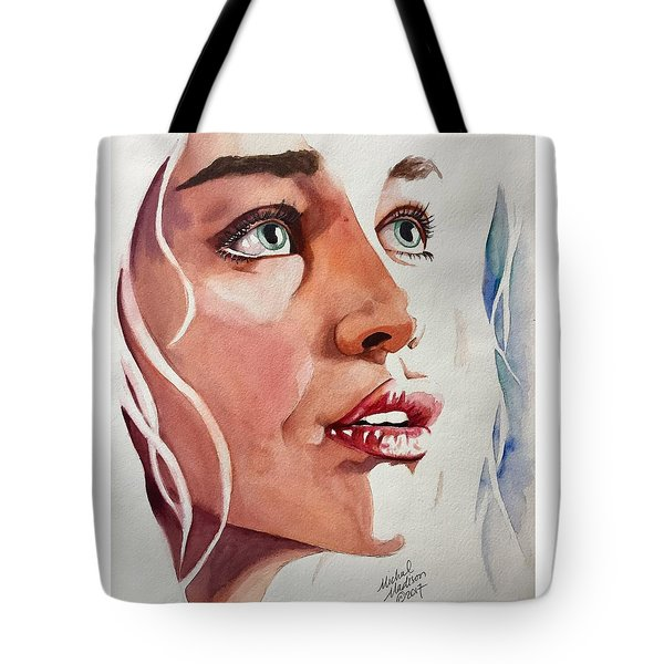 Tote Bag featuring the painting Infinite Light  by Michal Madison