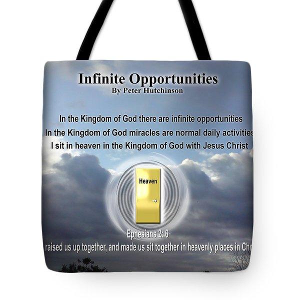 Infinite Opportunities Tote Bag