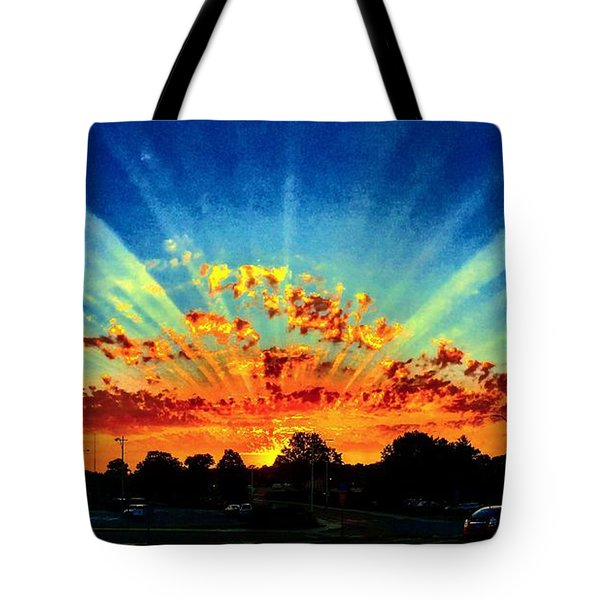 Infinite Rays From An Otherworldly Sunset Tote Bag