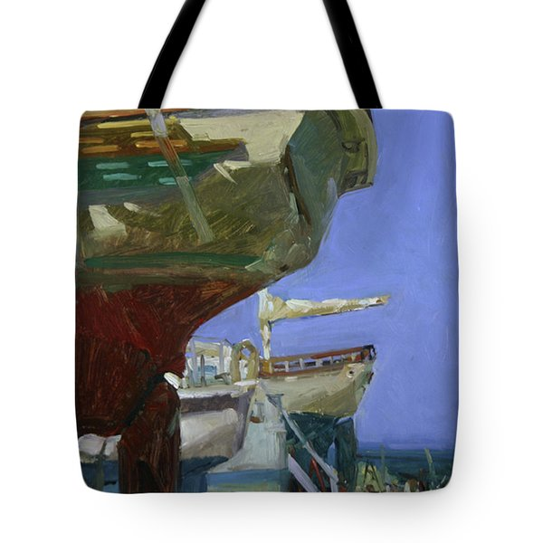 Infinity Awaiting Winter - Plein Air Catalina Island Tote Bag
