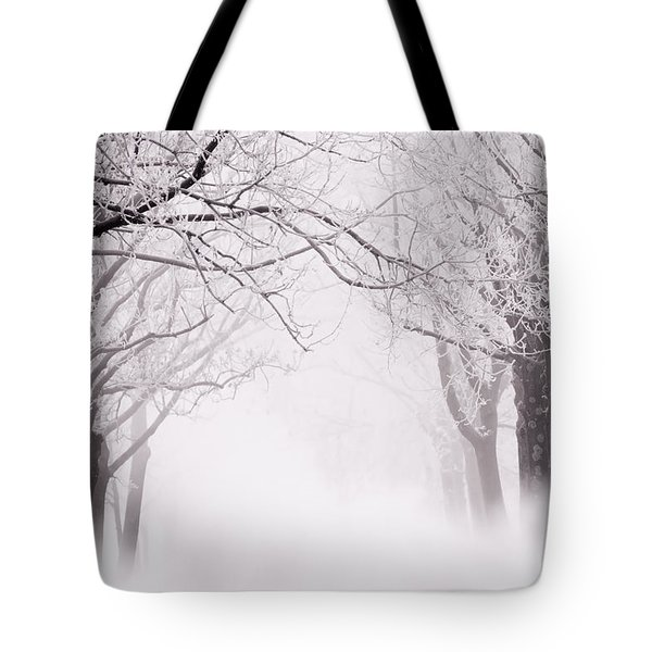 Infinity - Trees Covered With Hoar Frost On A Snowy Winter Day Tote Bag