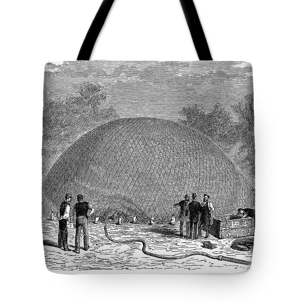 Inflation Of A Balloon Tote Bag by Granger