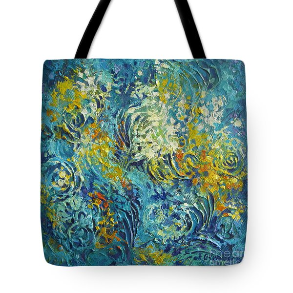 Tote Bag featuring the painting Inflorescence 2 by Elena Oleniuc