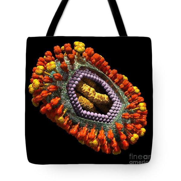 Influenza Virus Cutaway 5 Tote Bag