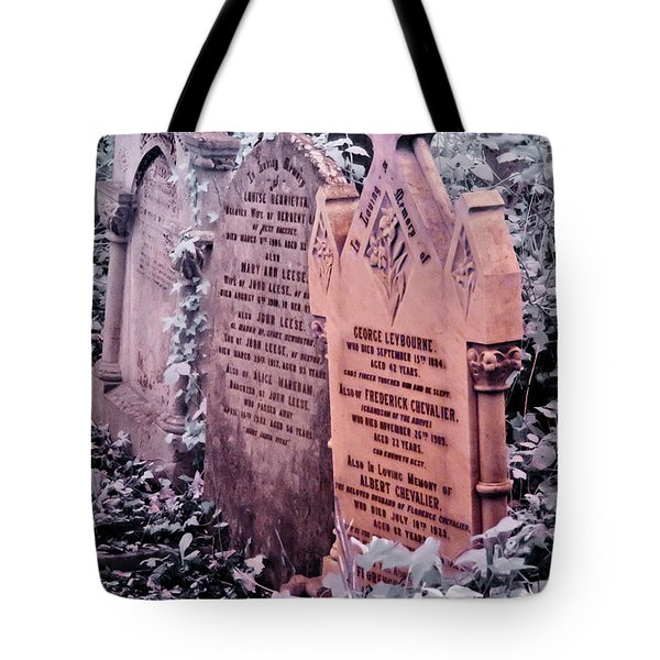 Tote Bag featuring the photograph Music Hall Stars At Abney Park Cemetery by Helga Novelli
