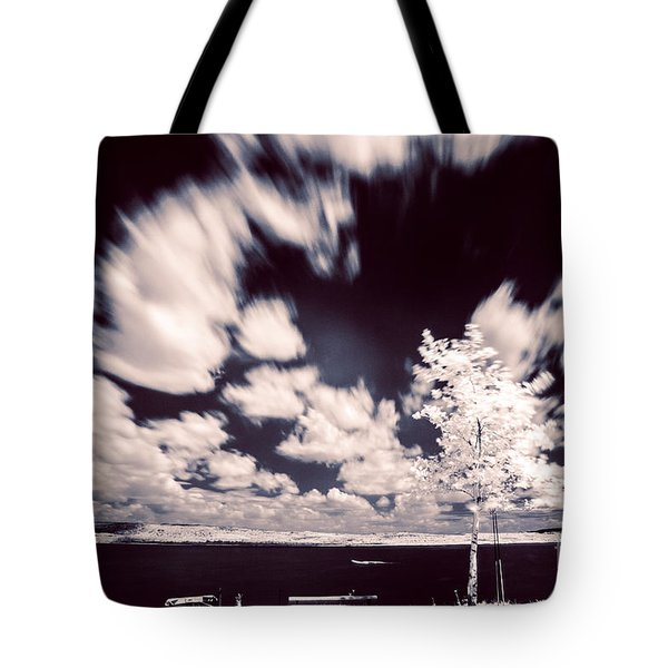 Infrared Lake Tote Bag by Odon Czintos