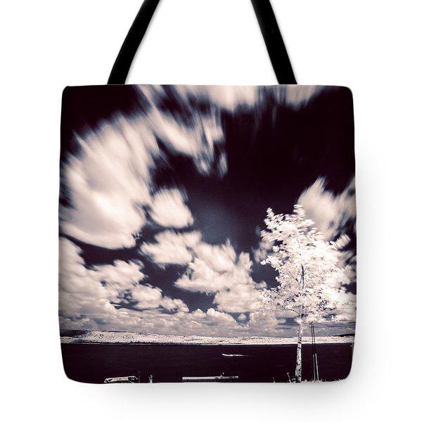 Infrared Lake Tote Bag