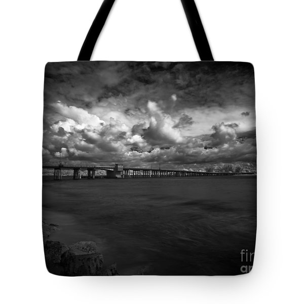 Infrared Longboat Pass Bridge Tote Bag