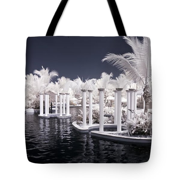 Infrared Pool Tote Bag by Adam Romanowicz
