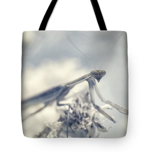 Tote Bag featuring the photograph Infrared Praying Mantis 2 by Brian Hale