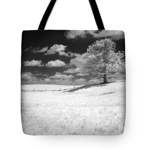Infrared Tree Tote Bag