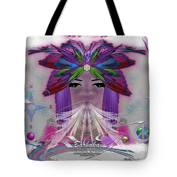 Inhaling Exhaling Peace Tote Bag by Barbara Tristan