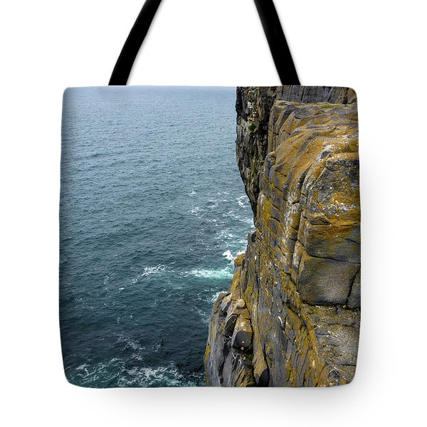 Tote Bag featuring the photograph Inishmore Cliff And Dun Aengus  by RicardMN Photography