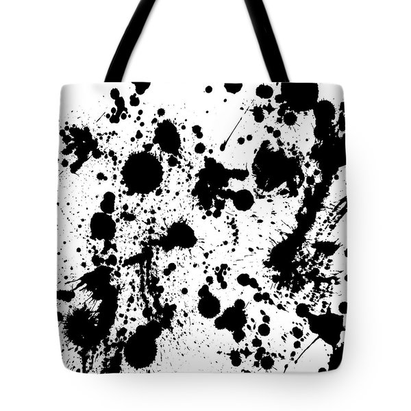 Tote Bag featuring the photograph Ink Spattered All Over by Menega Sabidussi