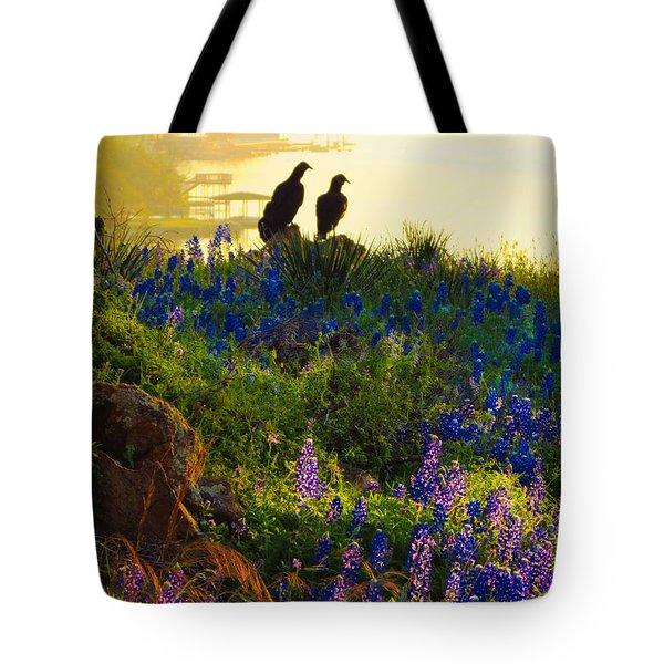 Da228 Inks Lake Love Daniel Adams Tote Bag