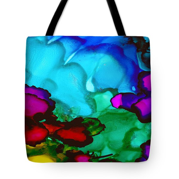 Tote Bag featuring the painting Inlet by Angela Treat Lyon