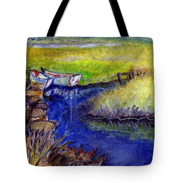 John Boat Creek Tote Bag