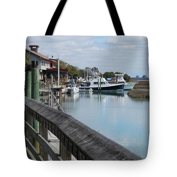 Inlet Fishing Fleet Tote Bag