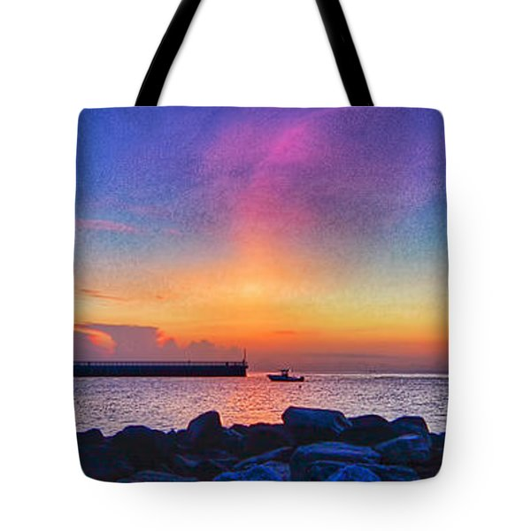 Inlet Sunrise Tote Bag