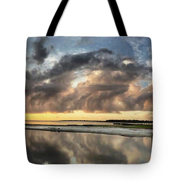 Inlet Sunrise Panorama Tote Bag